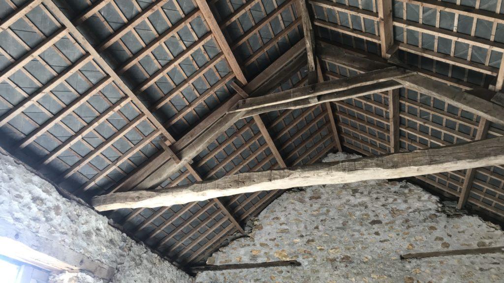 Rénovation charpente d'un bâtiment ancien